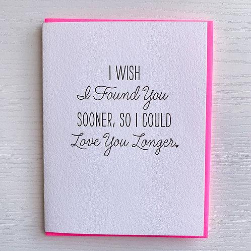 Love You Longer Card