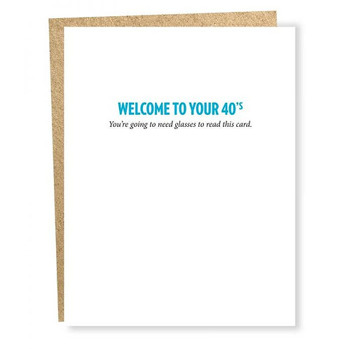 Welcome to Your 40's