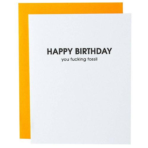 Fossil Birthday Card