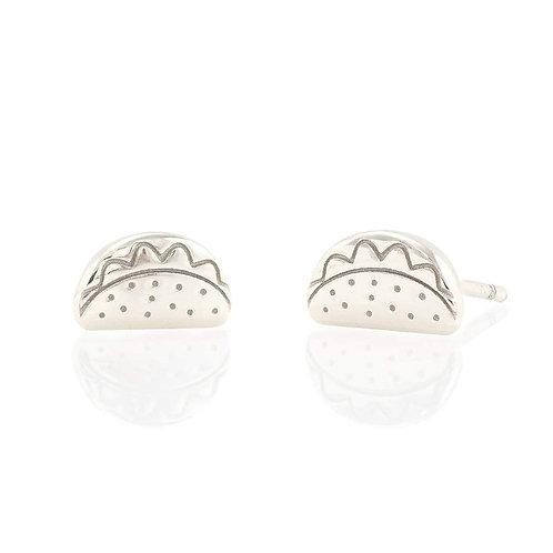 Sterling Silver Taco Stud Earrings