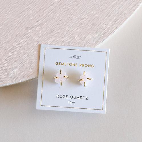 Rose Quartz Gemstone Prong