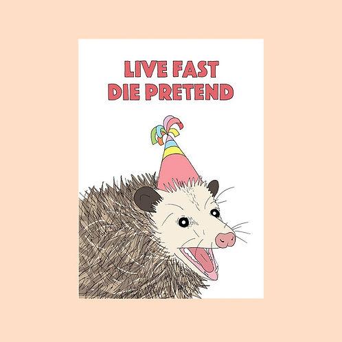 Live Fast Card