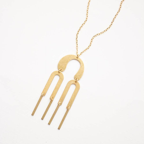 Modern Brass Necklace