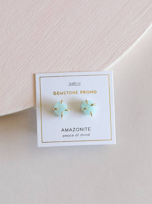 Amazonite Prong Earrings