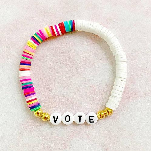 Vote Color Block Bracelet