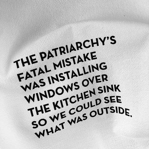 Patriarchy Tea Towel