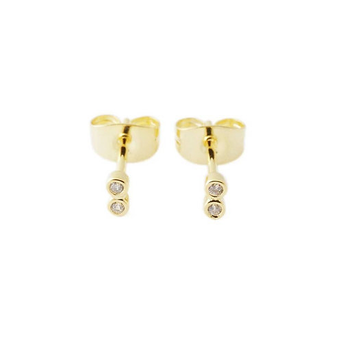 Double Crystal Studs