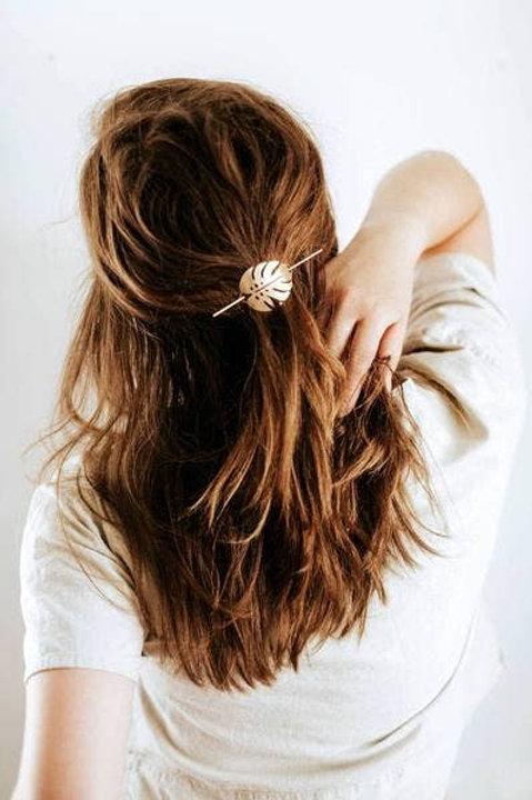 Monstera Leaf Hair Pin