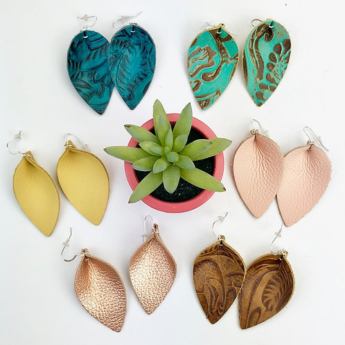Assorted Leather Earrings
