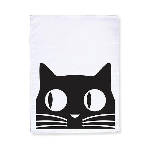 Big Eyes Cat Tea Towel