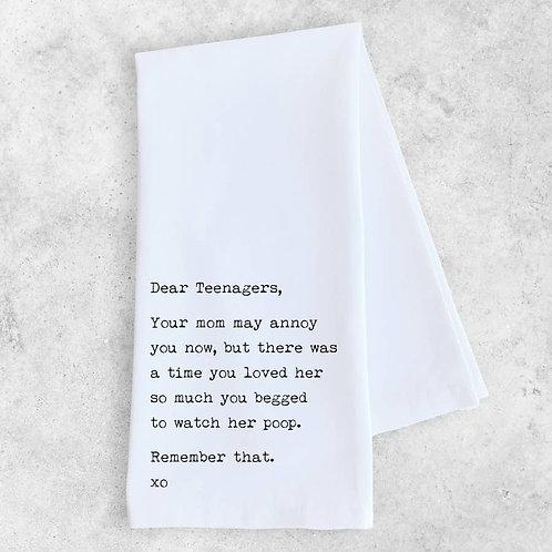 Teenagers Tea Towel