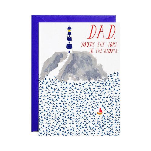 Lighthouse Dad Card