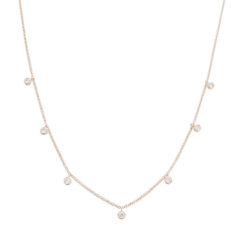 Crystal Stardust Necklace Silver Plate