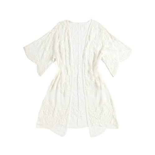 Ivory Lacy Kimono