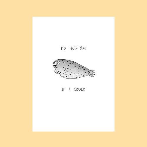 Seal Hug Card