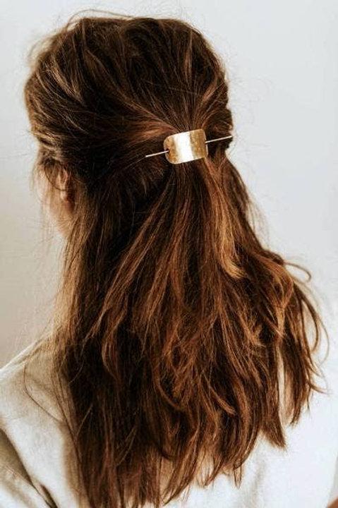 Hammered Bar Hair Pin