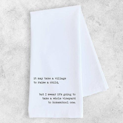 Takes A Village Tea Towel
