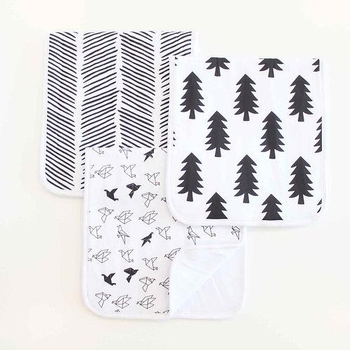 Monochromatic Burp Cloth Set
