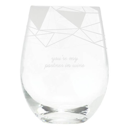 My Partner in Wine Glass