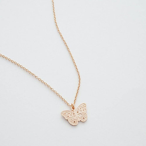 Magic Butterfly Charm Necklace (SILVER TONE)