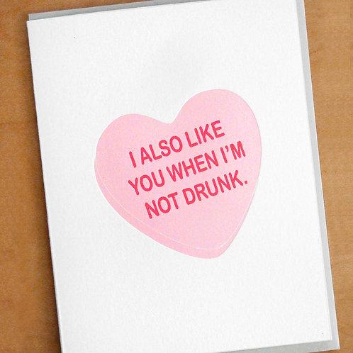 Not Drunk Card