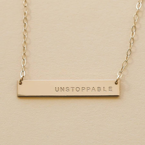 Unstoppable Bar Necklace