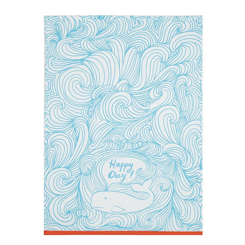 Happy Day Whale Tea Towel