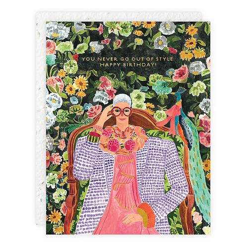 Iris Birthday Card