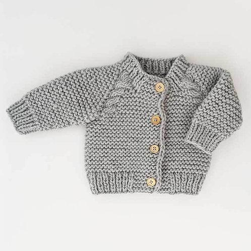 Grey Garter Stitch Sweater