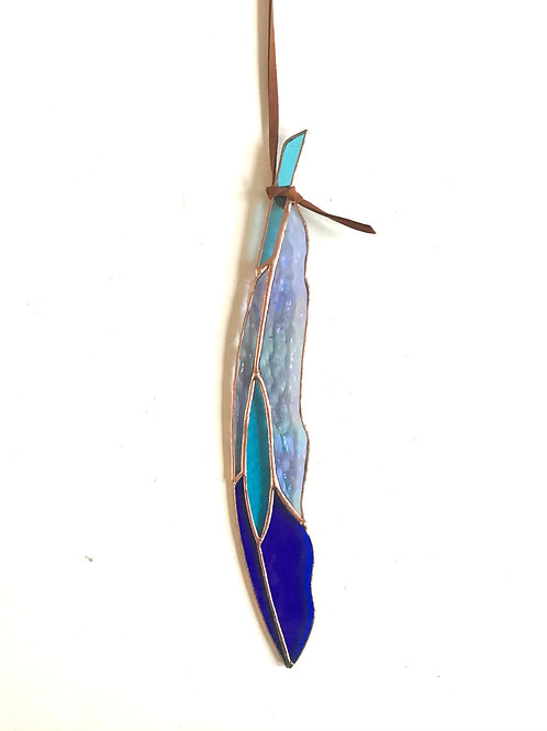 Diamond Eye Stained Glass Feather