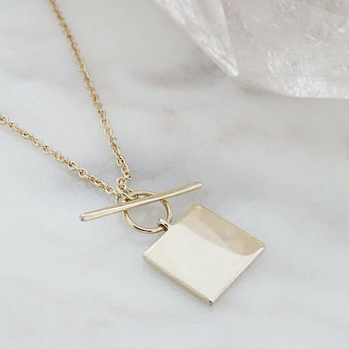 Toggle Necklace Gold Plated