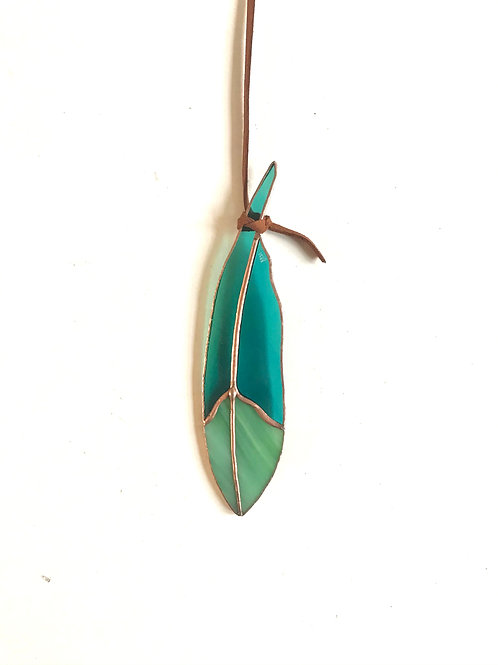 Mini Stained Glass Feather