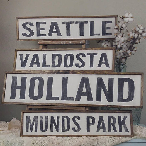 Large Custom Neighborhood Sign