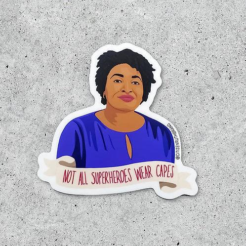 Super Hero Stacey Abrams Sticker