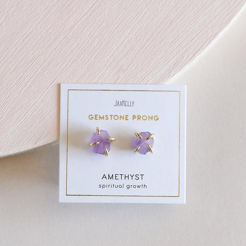 Amethyst Prong Earrings