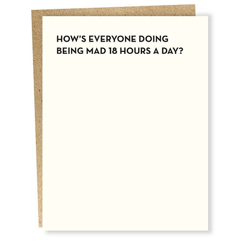 18 Hours Card