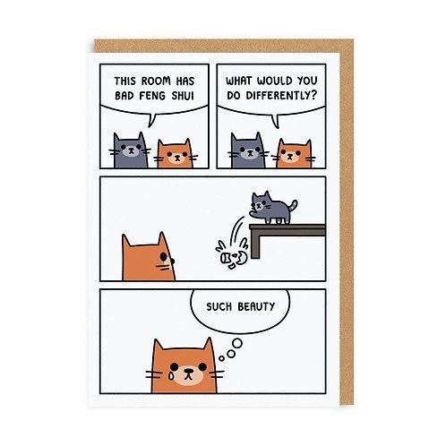 Feng Shui Cat Card