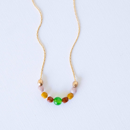 Tiny Gold Filled Beaded Necklace