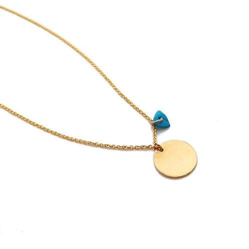 Karma Crystal Necklace Turquoise
