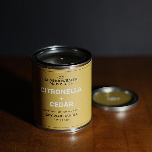 Citronella and Cedar Candle