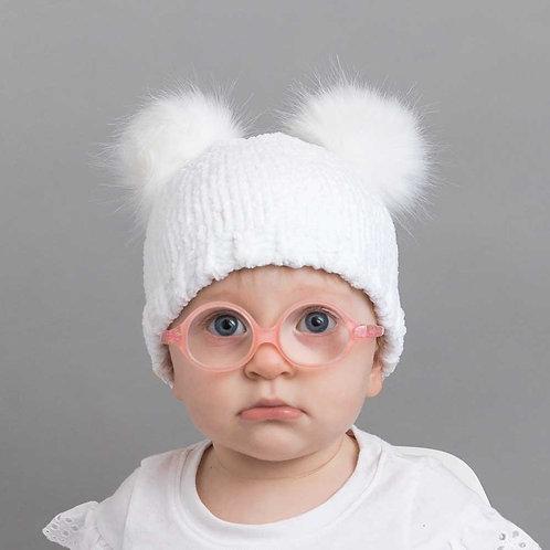 Chenille Pom Pom Baby Hat