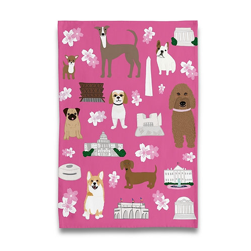 Cherry Blossom and Pets Towel
