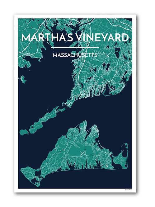 Martha's Vineyard Street Map