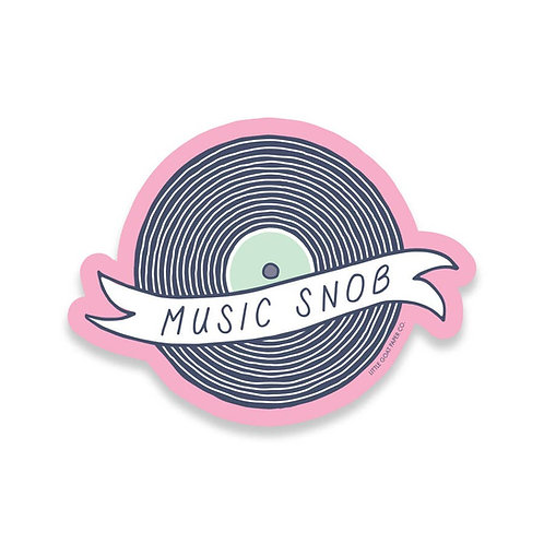 Music Snob Vinyl Sticker