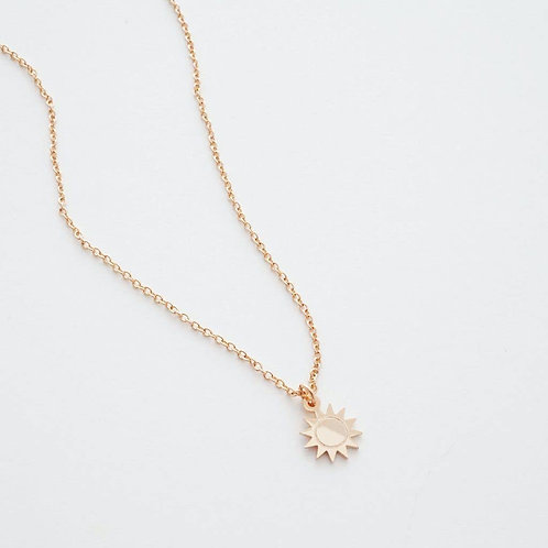 Magic Sun Charm Necklace Gold Plate
