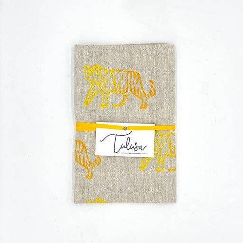 Linen Tea Towel - Tigress