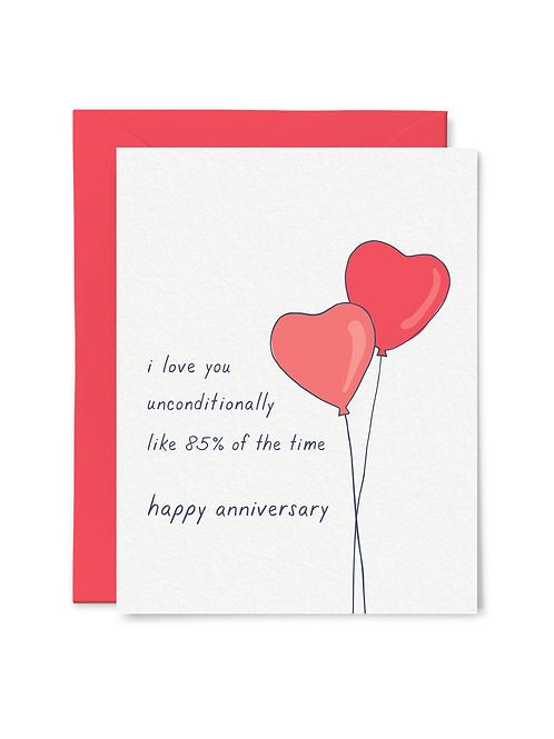 85% Anniversary Card