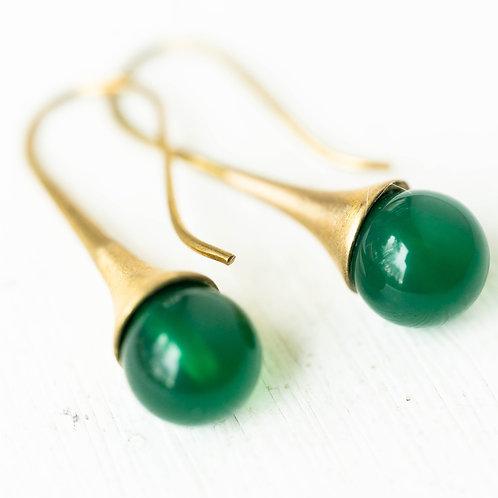 Gemstone Teardrop Earrings