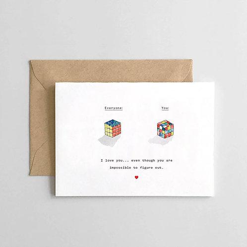 Rubix Cube Card