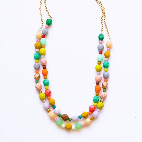 Colorful Double Bead Necklace